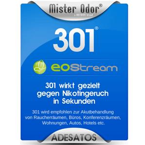 Zigarettengeruch entfernen mit EOStream BDLC-301 Flüssigkeit