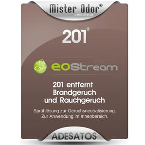 Brandgeruch & Rauchgeruch entfernen mit EOStream BDLC-201 Flüssigkeit