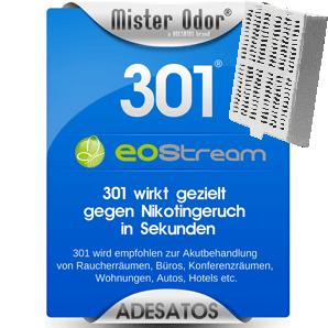 Nikotingerüche entfernen mit EOStream BDLC-301 im ScentClip